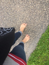 walking barefoot after the rain whenever I can. #eatdirt